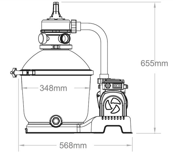 Bestway 1000gal 3 785l Flowclear Sand Filter Pump 58400