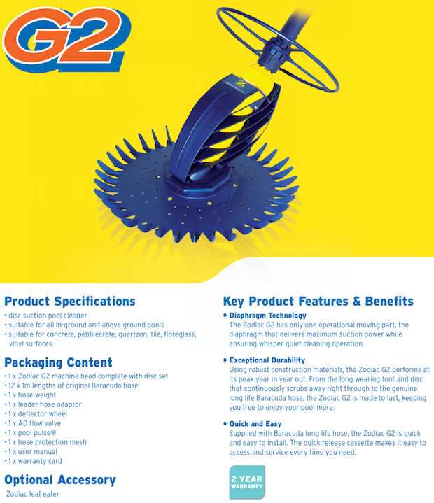 Zodiac Baracuda G2