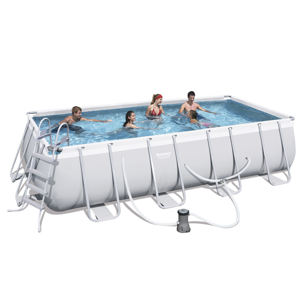Bestway X X Power Steel Frame Pool With 800gal Cartridge Filter Pump 56489