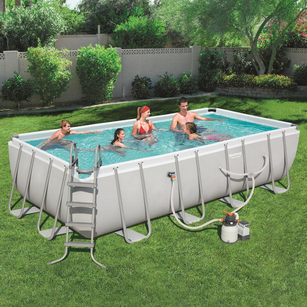 Bestway 5 49m X 2 74m X 1 22m Power Steel Frame Pool With