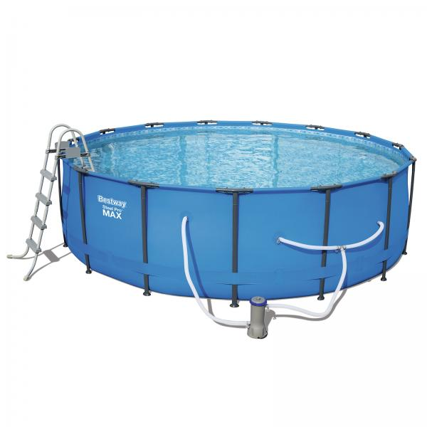Bestway 4 57m X 1 22m Steel Pro Max Frame Pool With 800gal