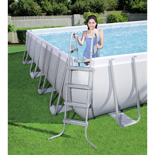 Bestway 4 88m X 4 88m X 1 22m Power Steel Square Pool Set