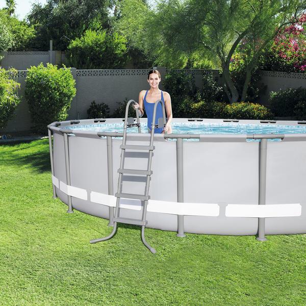 Bestway 4 27m X 1 22m Power Steel Frame Pool With 800gal