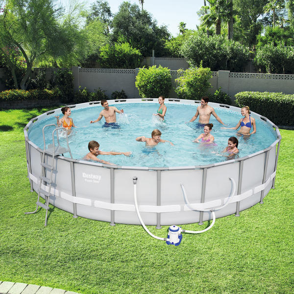 Bestway 6 1m X 1 22m Power Steel Frame Pool With 2500gal