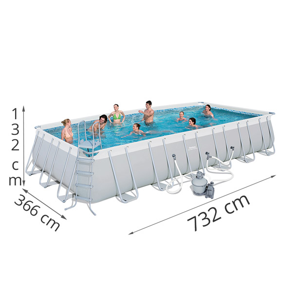 Bestway X X Power Steel Frame Pool With 1500gal Sand Filter Pump 56477