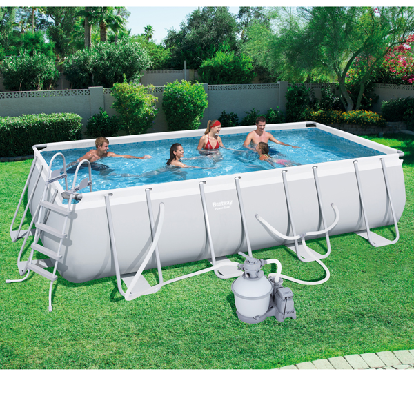 Bestway X X Power Steel Frame Pool With 1000 Gal Sand Filter Pump 56380