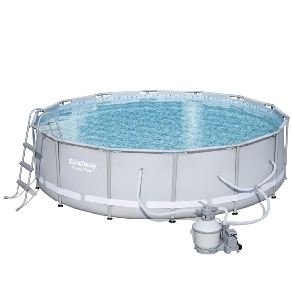 Bestway X Power Steel Frame Pool With 1000gal Sand Filter Pump 56646 Free Gifts
