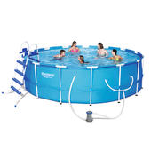 Bestway 4.57m x 1.22m Steel Pro Frame Pool with 800gal Cartridge Filter Pump 2017 MODEL - 56439 + FREE GIFTS