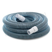 15m Premium Pool Vacuum Hose - Heavy Duty - Spiral Wound EVA - Light Blue