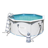 Bestway 3m x 1.2m Hydrium™ Round Steel Wall Pool with 530gal Sand Filter Pump - 56567