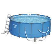 Bestway 3.66m x 1.22m Steel Pro MAX Frame Pool with 530gal Cartridge Filter Pump - 56421 - FREE SOLAR POOL COVER