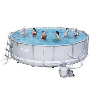 Bestway X Power Steel Frame Pool With 1000gal Sand Filter Pump 56646