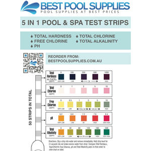 5 In 1 Swimming Pool Amp Spa Water Test Strips 50 Strips